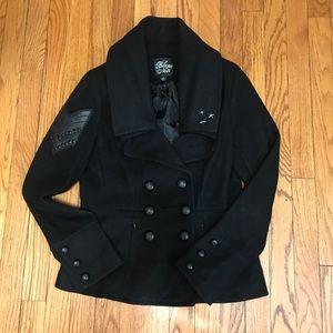 Black Noir military overcoat